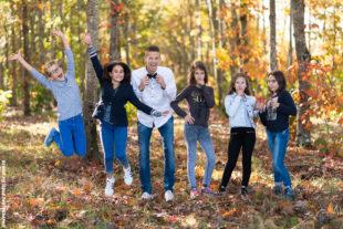 Séance photo famille en forêt